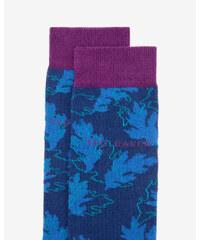 Ted Baker Socken mit Blattmuster Blau