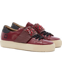D.A.T.E NEWMAN L BORD STRAP STONES Sneakers in Weinrot