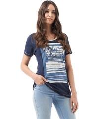 Weird Fish Damen Fishing T-Shirt Blau