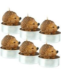 FLAMBEAU FLAMBUE Čajové svíčky ježek, 6 ks