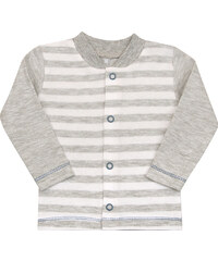 Nini Chlapecký pruhovaný kabátek - šedý