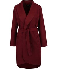 Vínový lehký kabát VILA Ida