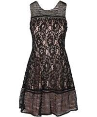 Béžovo-černé krajkované šaty AX Paris