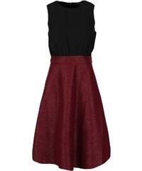 Černo-vínové šaty bez rukávů AX Paris
