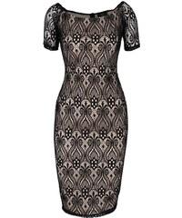 Černo-béžové krajkované šaty AX Paris