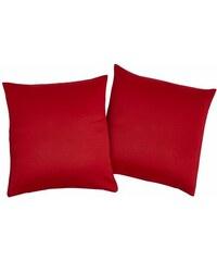 VHG Kissenhülle Leon (2 Stück) rot 1 (40x40 cm),2 (50x50 cm)