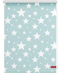 Seitenzugrollo Lichtblick Klemmfix Dekor Sterne Lichtschutz Fixmaß ohne Bohren LICHTBLICK blau 7 (H/B: 150/120 cm)