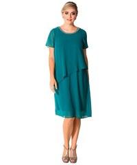 Damen Style Chiffonkleid in Lagenoptik SHEEGO STYLE grün 40,42,44,48,50,52,54,56,58