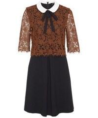 Damen HALLHUBER Bubikragen-Kleid im Fabric-Mix HALLHUBER bunt 34,36,38,40,42