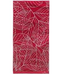 Badetuch Leaves mit Blatt-Motiven Tom Tailor rot 1xBadetuch 70x140 cm