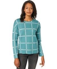 Damen Pullover check jacquard sweater Tom Tailor blau L,M,S,XL,XS,XXL,XXXL