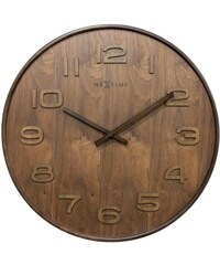 NeXtime Designové nástěnné hodiny 3095br Nextime Wood Wood Big 53cm