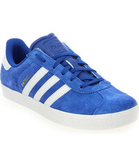 Baskets Enfant fille Adidas Originals en Cuir velours Bleu