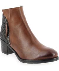 Boots Femme Myma en Cuir Camel