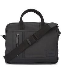 Calvin Klein Aktentasche aus schwarz beschichtetem Stoff
