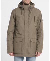 RVCA Khakifarbener Parka Ground Jacket mit aufgesetzten Taschen
