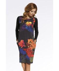 Enny Černé květované šaty 220075