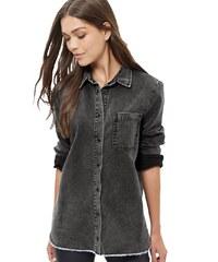 ELISE RYAN Černá košile se světlým nápisem na zádech