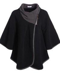 Manteau cape Noir Elasthanne - Femme Taille T.U - Cache Cache