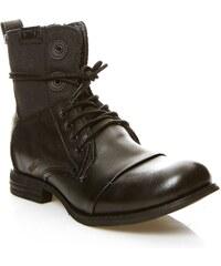 Bunker TARA - Boots en cuir - noir