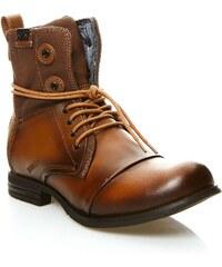 Bunker TARA - Boots en cuir - bronzage