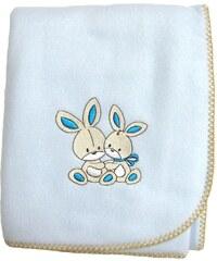 Les Bébés d Elysea Pinpin - Couverture polaire - bleu