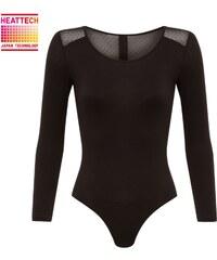 Princesse tam.tam Inner Uniqlo Heattec - Body manches longues 7/8 - noir