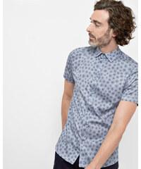 Ted Baker Wollhemd mit Löwenzahn-Print Blau
