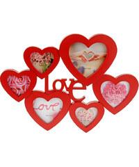 Lesara Collagen-Bilderrahmen im Herzdesign - Rot