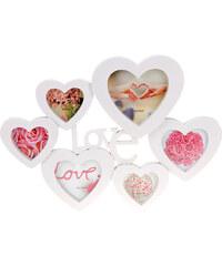 Lesara Collagen-Bilderrahmen im Herzdesign - Weiß