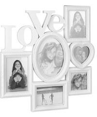 Lesara Collagen-Bilderrahmen mit Love-Schriftzug - Weiß