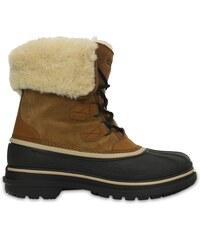 Crocs Boot Men Wheat/Black AllCast II Luxe Shearling