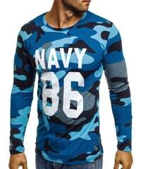 Athletic Modré army tričko s dlouhým rukávem