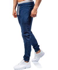 RED FIREBALL Modré džínové baggy tepláky