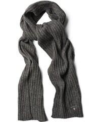 GANT écharpe En Laine Et Coton - Charcoal Melange