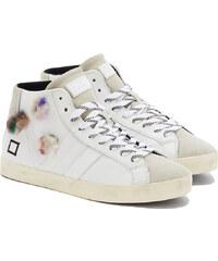 D.A.T.E HILL HIGH POP FUR FLOWERS Sneakers in Weiß
