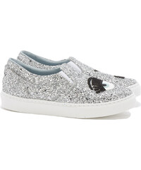 Chiara Ferragni FLIRTING Slip-Ons Sneakers in Silber