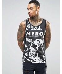 Heros Heroine Hero's Heroine - Trägershirt mit Farbklecksen - Schwarz