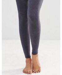 Plush - Collants sans pieds doublés de polaire - Gris