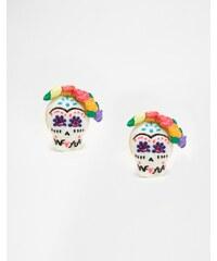 N2 by Les Nereides - Boucles d'oreilles motif tête de mort colorée - Multi