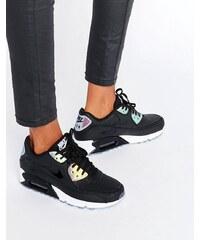 Nike - Air Max 90 Premium - Baskets effet holographique - Noir - Noir