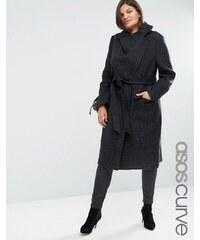ASOS CURVE - Manteau à col cheminée - Noir