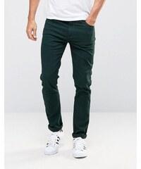 Farah - Jean skinny en sergé stretch - Vert - Vert