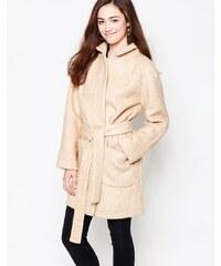 Ganni - Manteau portefeuille avec ceinture à nouer - Fauve - Multi