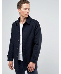 Selected Homme - Trench en laine - Bleu marine