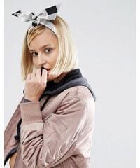 ASOS - Kariertes Haarband in Turbandesign - Schwarz