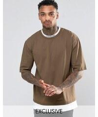 Underated - T-Shirt mit Stehkragen - Grün