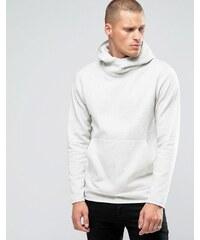 Jack & Jones - Sweatshirt mit Kapuze und überkreuztem Design - Beige