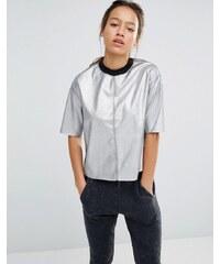 Converse - T-Shirt in Silber-Metallic - Silber