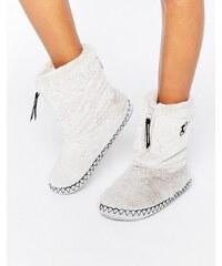 Bedroom Athletics - Marilyn - Bottines chaussons en fausse fourrure - Gris
